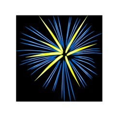 Fireworks Blue Green Black Happy New Year Small Satin Scarf (square) by Mariart
