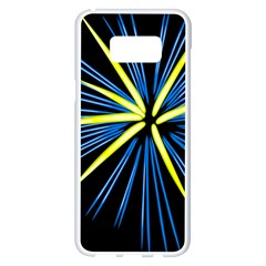 Fireworks Blue Green Black Happy New Year Samsung Galaxy S8 Plus White Seamless Case