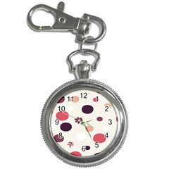 Polka Dots Flower Floral Rainbow Key Chain Watches by Mariart