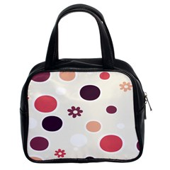 Polka Dots Flower Floral Rainbow Classic Handbags (2 Sides) by Mariart