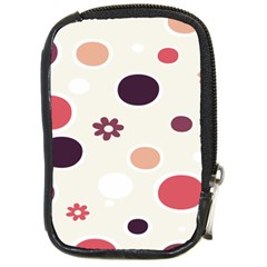 Polka Dots Flower Floral Rainbow Compact Camera Cases by Mariart