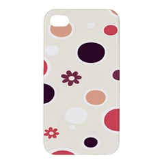 Polka Dots Flower Floral Rainbow Apple Iphone 4/4s Hardshell Case by Mariart