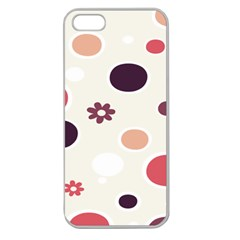 Polka Dots Flower Floral Rainbow Apple Seamless Iphone 5 Case (clear) by Mariart