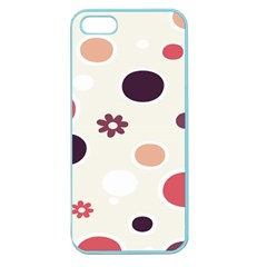 Polka Dots Flower Floral Rainbow Apple Seamless Iphone 5 Case (color) by Mariart