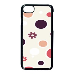 Polka Dots Flower Floral Rainbow Apple Iphone 7 Seamless Case (black) by Mariart