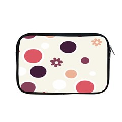 Polka Dots Flower Floral Rainbow Apple Macbook Pro 13  Zipper Case by Mariart