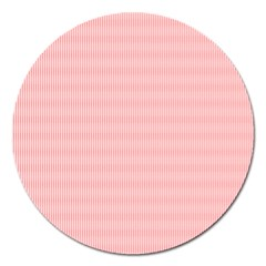 Red Polka Dots Line Spot Magnet 5  (round) by Mariart