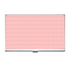 Red Polka Dots Line Spot Business Card Holders