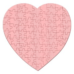Red Polka Dots Line Spot Jigsaw Puzzle (heart) by Mariart