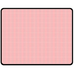 Red Polka Dots Line Spot Double Sided Fleece Blanket (medium)