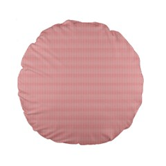 Red Polka Dots Line Spot Standard 15  Premium Flano Round Cushions by Mariart