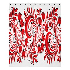 Red Flower Floral Leaf Shower Curtain 60  X 72  (medium)  by Mariart
