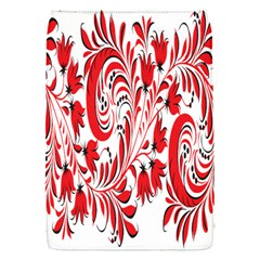 Red Flower Floral Leaf Flap Covers (s)