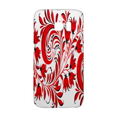 Red Flower Floral Leaf Galaxy S6 Edge by Mariart