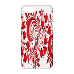 Red Flower Floral Leaf Apple Iphone 7 Hardshell Case by Mariart