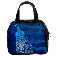 Peacock Bird Blue Animals Classic Handbags (2 Sides) by Mariart