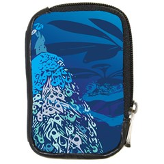 Peacock Bird Blue Animals Compact Camera Cases by Mariart