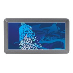 Peacock Bird Blue Animals Memory Card Reader (mini) by Mariart