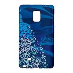 Peacock Bird Blue Animals Galaxy Note Edge by Mariart