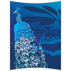 Peacock Bird Blue Animals Back Support Cushion by Mariart