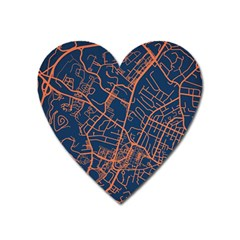 Virginia Map Art City Heart Magnet by Mariart