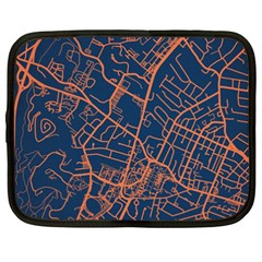 Virginia Map Art City Netbook Case (xxl)