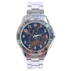 Virginia Map Art City Stainless Steel Analogue Watch by Mariart
