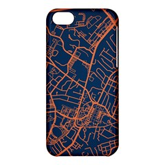 Virginia Map Art City Apple Iphone 5c Hardshell Case by Mariart
