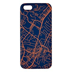 Virginia Map Art City Iphone 5s/ Se Premium Hardshell Case by Mariart
