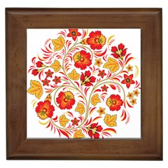 Wreaths Flower Floral Sexy Red Sunflower Star Rose Framed Tiles by Mariart