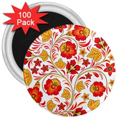 Wreaths Flower Floral Sexy Red Sunflower Star Rose 3  Magnets (100 Pack) by Mariart