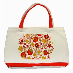 Wreaths Flower Floral Sexy Red Sunflower Star Rose Classic Tote Bag (red) by Mariart