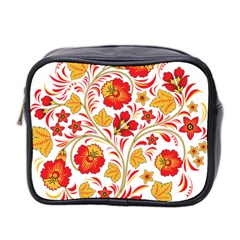 Wreaths Flower Floral Sexy Red Sunflower Star Rose Mini Toiletries Bag 2 Side by Mariart