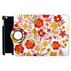 Wreaths Flower Floral Sexy Red Sunflower Star Rose Apple Ipad 3/4 Flip 360 Case by Mariart