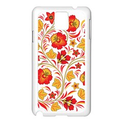 Wreaths Flower Floral Sexy Red Sunflower Star Rose Samsung Galaxy Note 3 N9005 Case (white) by Mariart