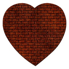 Brick1 Black Marble & Reddish Brown Leather Jigsaw Puzzle (heart) by trendistuff