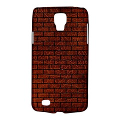 Brick1 Black Marble & Reddish Brown Leather Galaxy S4 Active by trendistuff