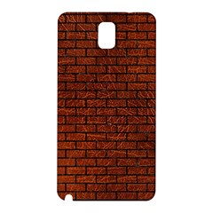 Brick1 Black Marble & Reddish Brown Leather Samsung Galaxy Note 3 N9005 Hardshell Back Case by trendistuff