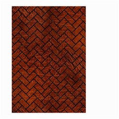 Brick2 Black Marble & Reddish Brown Leather Small Garden Flag (two Sides) by trendistuff