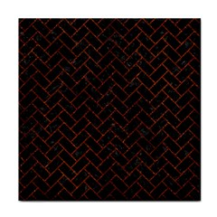 Brick2 Black Marble & Reddish Brown Leather (r) Tile Coasters by trendistuff