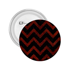 Chevron9 Black Marble & Reddish Brown Leather (r) 2 25  Buttons by trendistuff