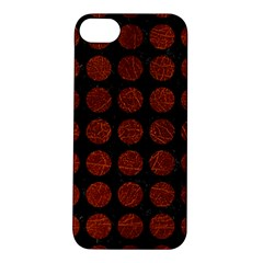 Circles1 Black Marble & Reddish Brown Leather (r) Apple Iphone 5s/ Se Hardshell Case by trendistuff