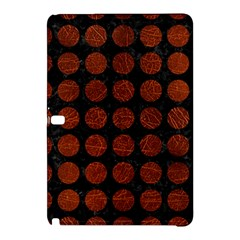 Circles1 Black Marble & Reddish Brown Leather (r) Samsung Galaxy Tab Pro 12 2 Hardshell Case by trendistuff