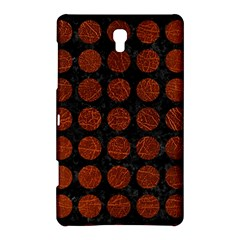 Circles1 Black Marble & Reddish Brown Leather (r) Samsung Galaxy Tab S (8 4 ) Hardshell Case