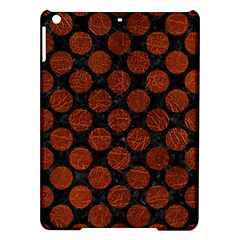 Circles2 Black Marble & Reddish Brown Leather (r) Ipad Air Hardshell Cases by trendistuff