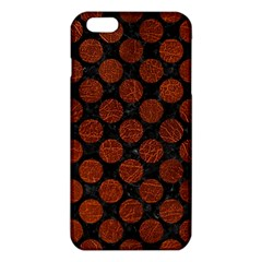 Circles2 Black Marble & Reddish Brown Leather (r) Iphone 6 Plus/6s Plus Tpu Case by trendistuff
