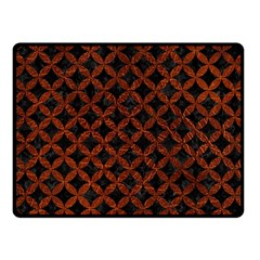 Circles3 Black Marble & Reddish Brown Leather (r) Fleece Blanket (small) by trendistuff