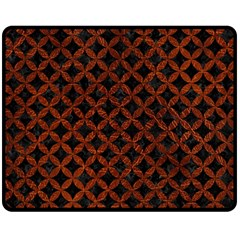 Circles3 Black Marble & Reddish Brown Leather (r) Double Sided Fleece Blanket (medium)  by trendistuff