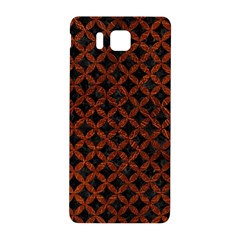 Circles3 Black Marble & Reddish Brown Leather (r) Samsung Galaxy Alpha Hardshell Back Case by trendistuff