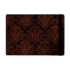 Damask1 Black Marble & Reddish Brown Leather (r) Apple Ipad Mini Flip Case by trendistuff